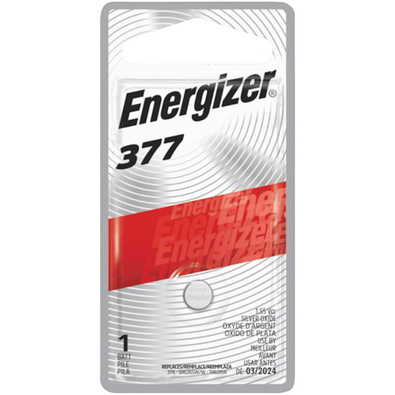 Energizer 377 Silver Oxide Button Cell Battery 24 MAh