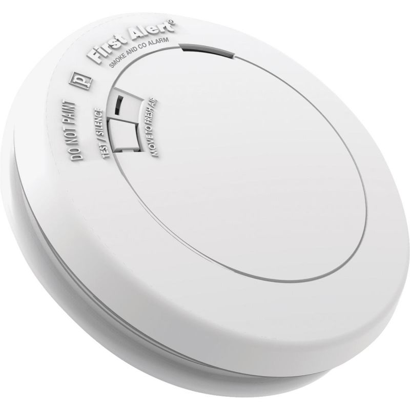 First Alert Slim Round Photoelectric Carbon Monoxide/Smoke Alarm White