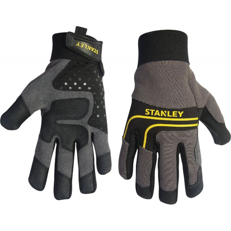 Stanley Synthetic Leather Work Glove L, Gray & Black