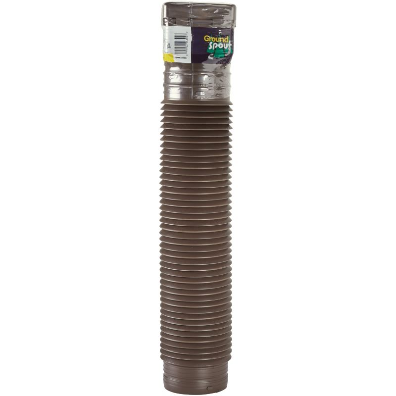 Spectra Metals Ground Spout Square End Downspout Extension Brown