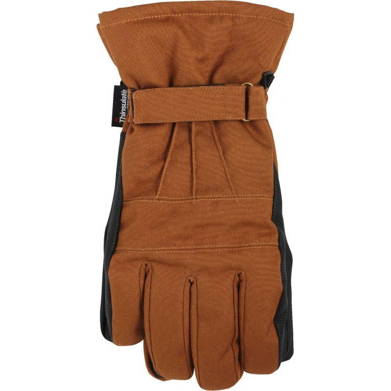 West Chester Winter Ski Glove L, Brown & Black