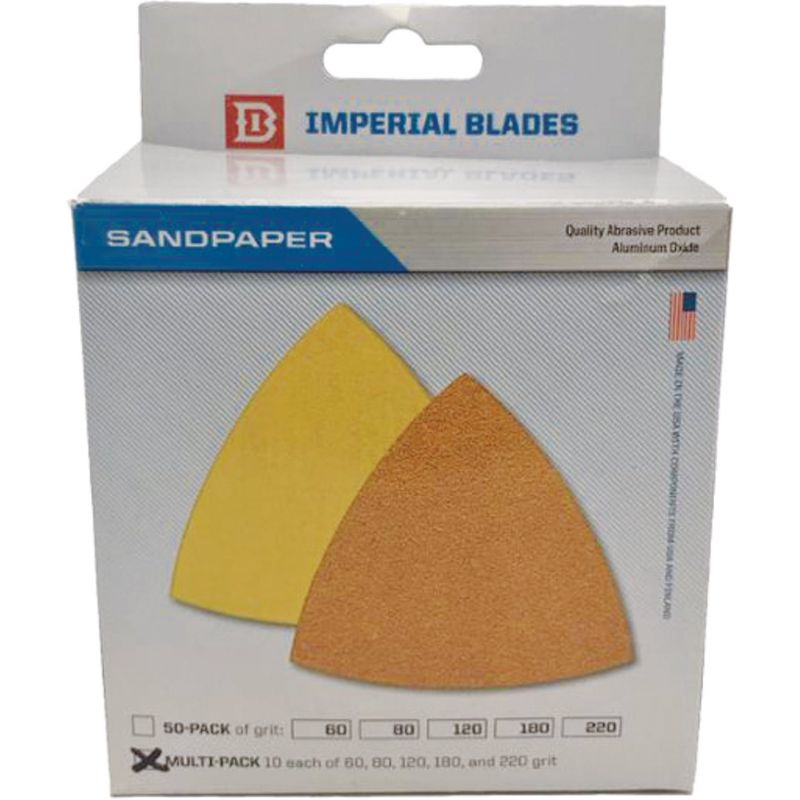 Imperial Blades ONE FIT Triangle Sandpaper Multi-Pack
