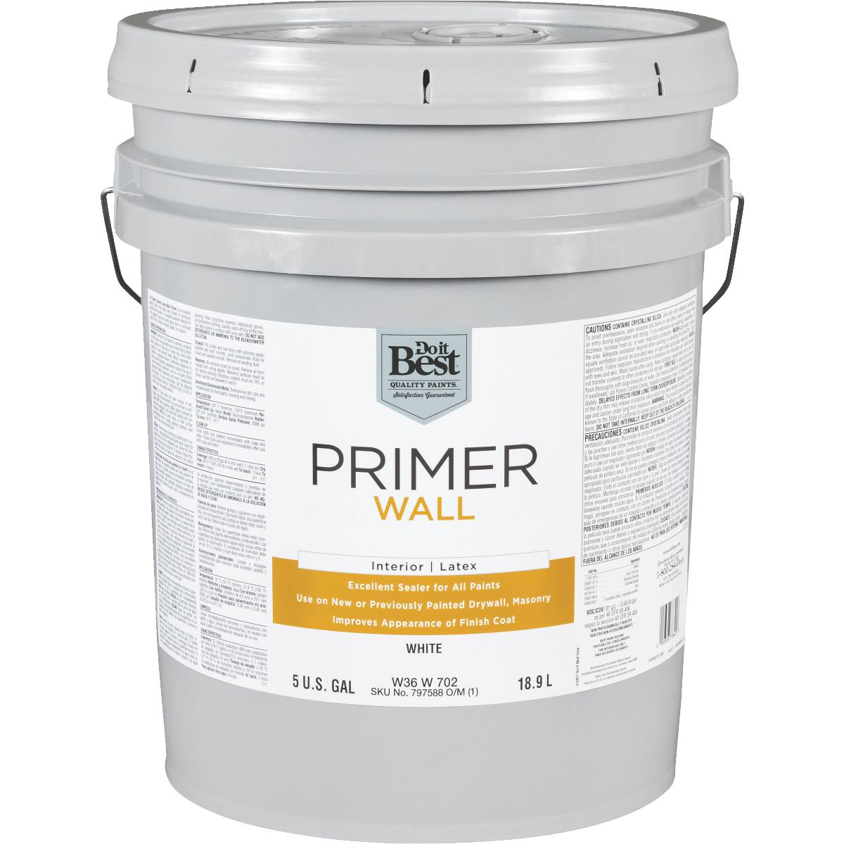 Buy Do It Best Latex Wall Interior Primer 5 Gal White