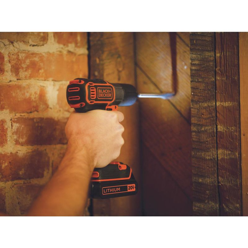 Black & Decker 20V MAX Lithium-Ion Cordless Drill Kit with AutoSense