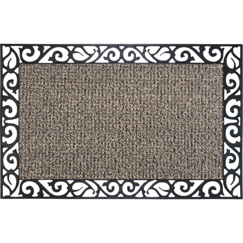 GrassWorx Clean Machine Premium Scraper Door Mat 18 In. X 30 In., Taupe
