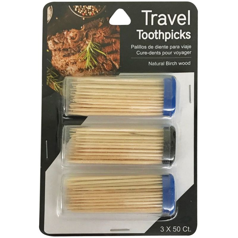 Jacent Travel Toothpicks (Pack of 6)
