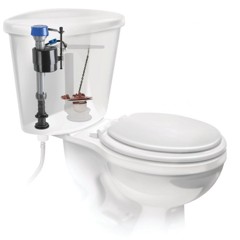 Fluidmaster PerforMAX Toilet Fill Valve & 3 In. Adjustable Flapper Toilet Repair Kit Universal, For 3 In.