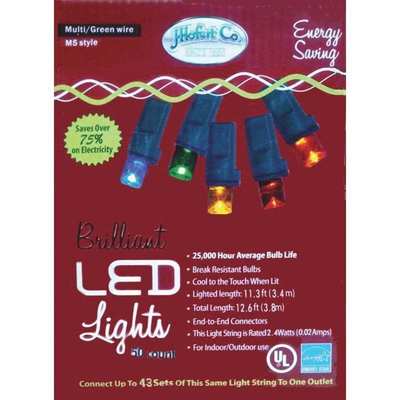 J Hofert MultiColored 50-Bulb M5 LED Light Set