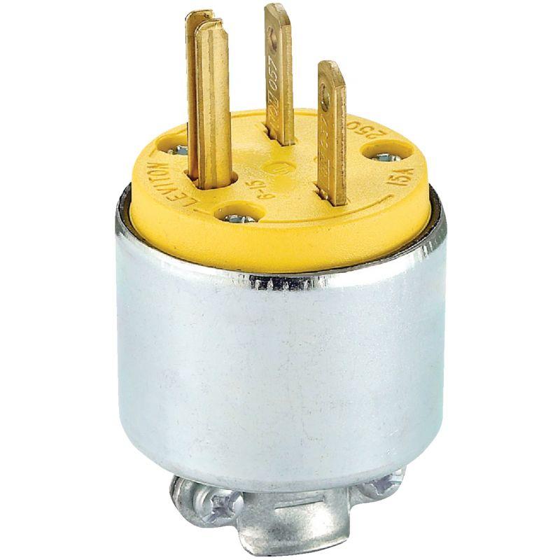 Leviton Armored Cord Plug Yellow, 15A