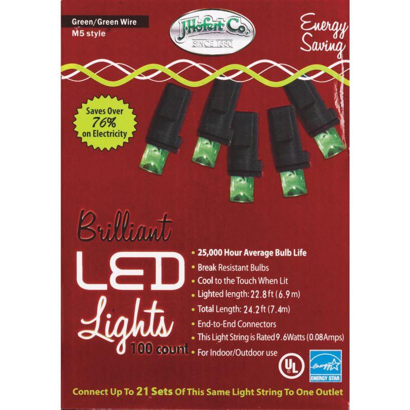 J Hofert Green 100-Bulb M5 LED Light Set