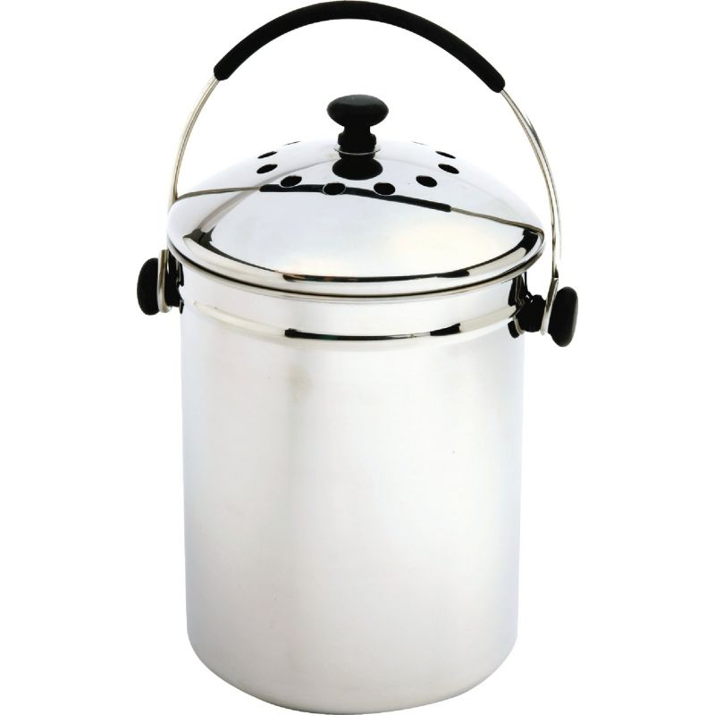 Norpro Stainless Steel Compost Keeper 1 Gal, Stainless Steel