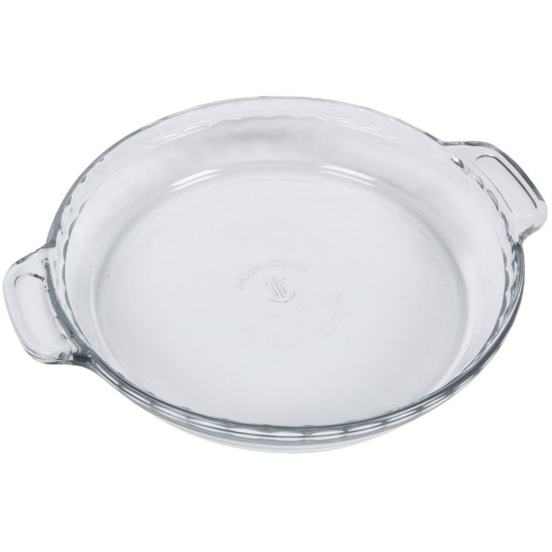Anchor Hocking Oven Basics Pie Plate Clear, Deep Dish (Pack of 3)