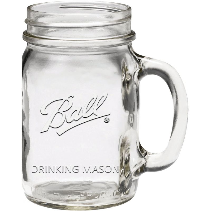 Ball Drinking Mug Canning Jar 16 Oz., Clear (Pack of 6)