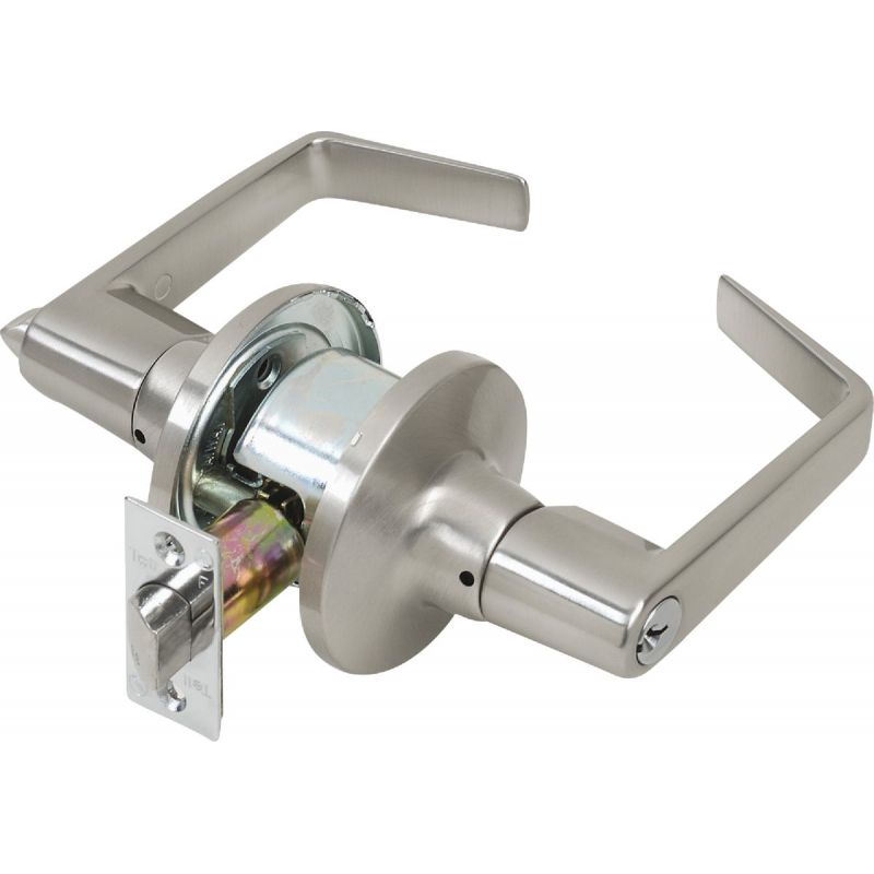 Tell Light-Duty Satin Chrome Commercial Entry Lever Lever