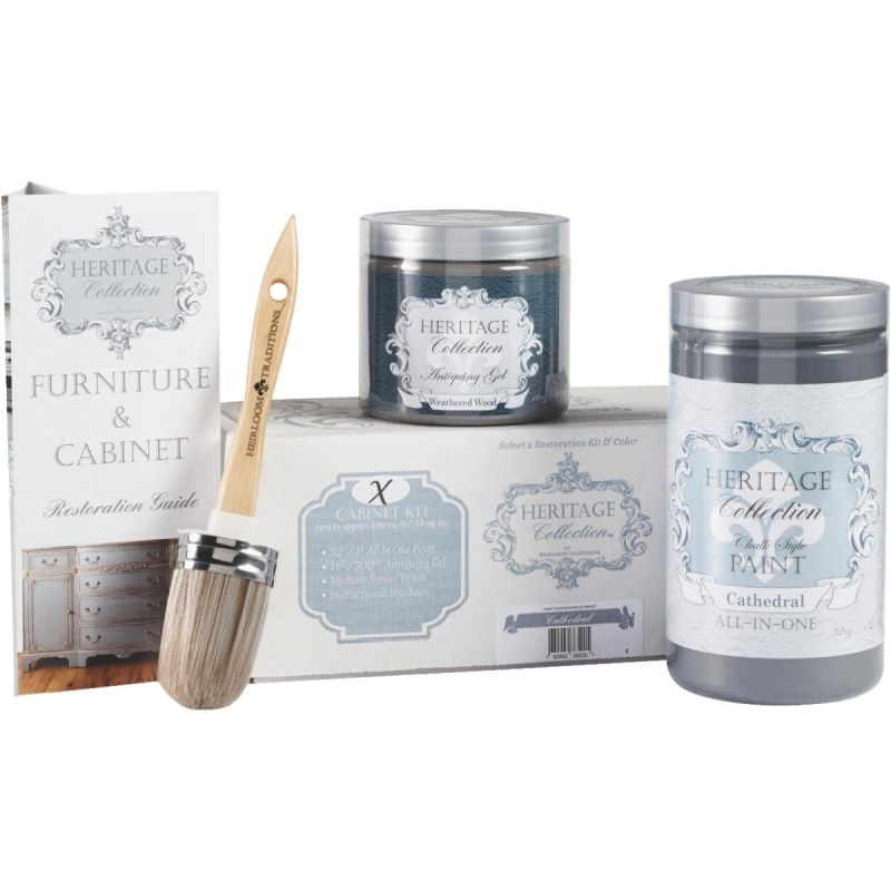 Chalk Paint Cabinet Restoration Kit Cathedral - Charcoal Gray
