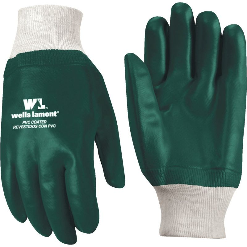 Wells Lamont PVC Coated Glove 1 Size Fits All, Green