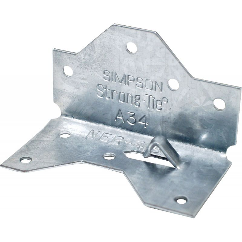 "Simpson Strong-Tie A34 Series Framing Angle 1-7/16"" W X 1-7/16"" W X 2-1/2"" H (Pack of 100)"