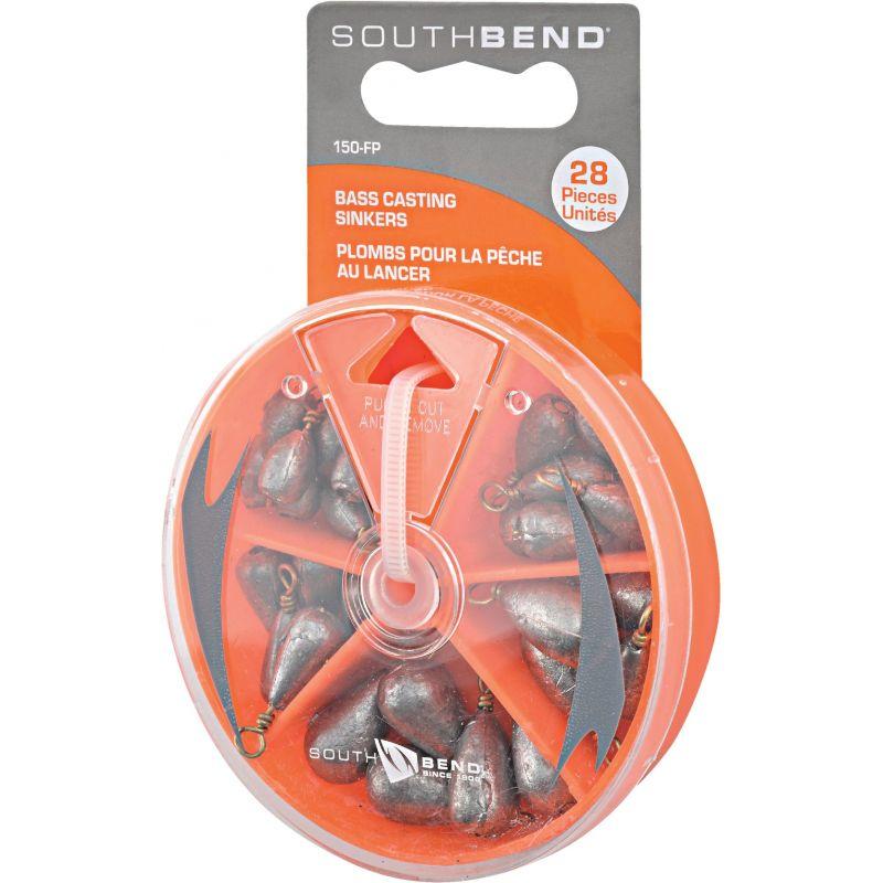 SouthBend 28-Piece Bass Casting Sinker Kit