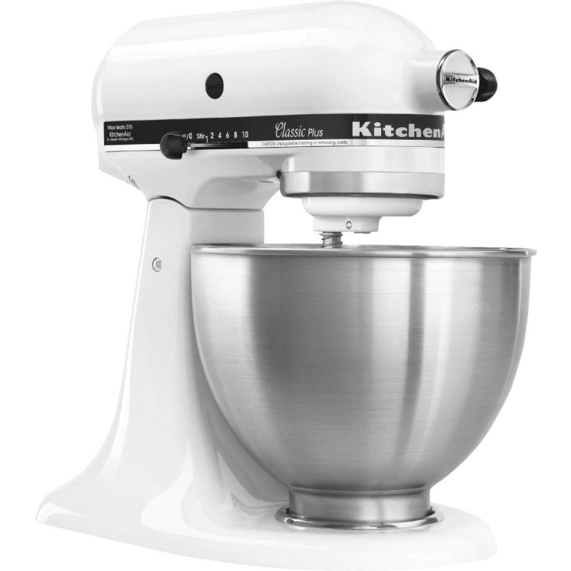 KitchenAid Classic Plus Stand Mixer White, Tilt-Head Design
