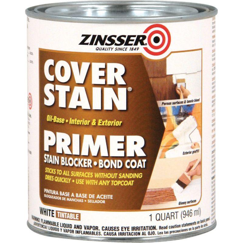 Zinsser Cover-Stain Oil-Base Interior/Exterior Sealer And Stain-Killer Primer 1 Qt., White