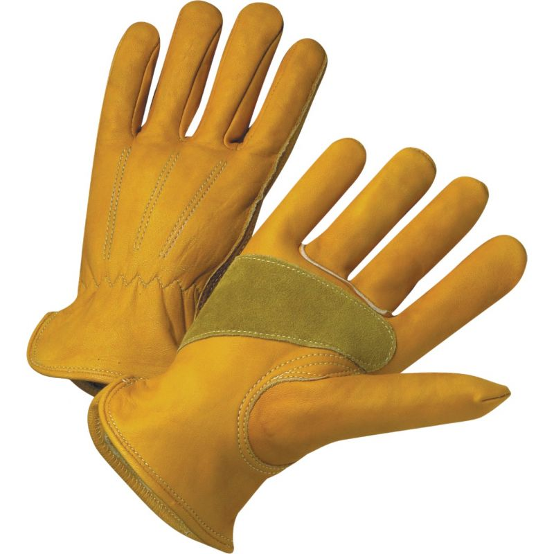 West Chester Protective Gear Grain Cowhide Leather Work Glove 2XL, Yellow