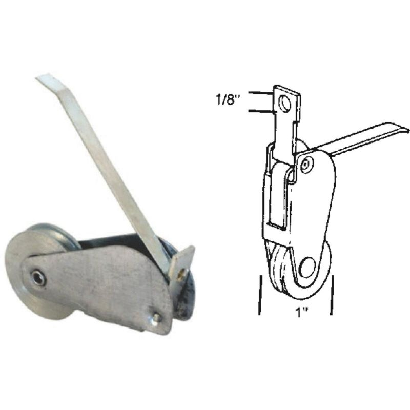 Slide-Co Spring Tension Screen Door Roller Assembly With Screws