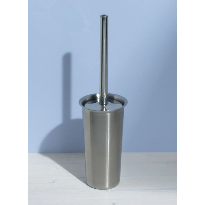 InterDesign Forma Toilet Bowl Brush with Caddy Silver
