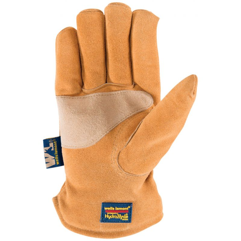 Wells Lamont HydraHyde Men's Cowhide Insulated Work Gloves M, Caramel