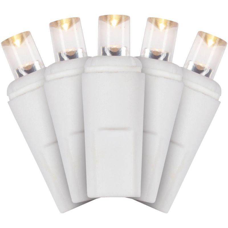 J Hofert Warm White 50-Bulb M5 LED Light Set With White Wire