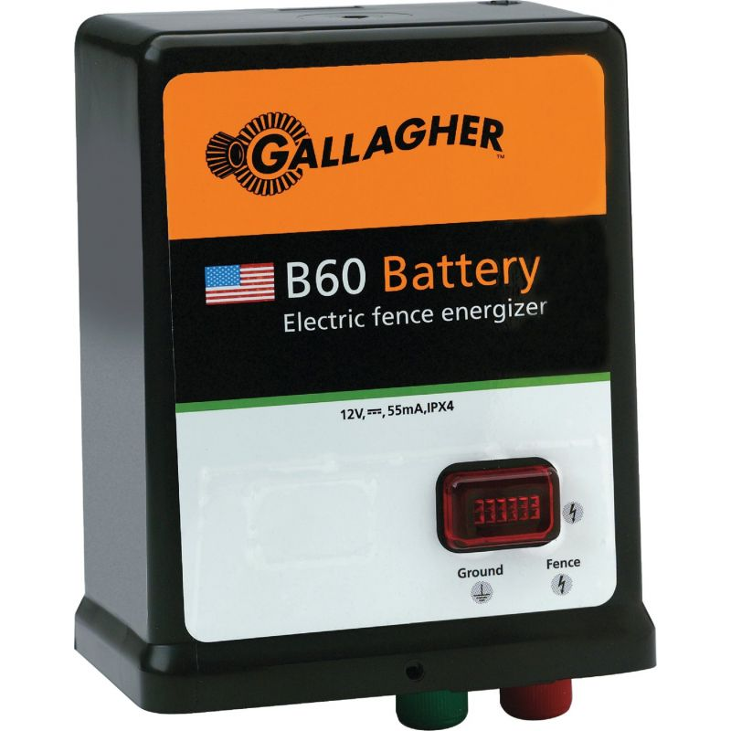 Gallager B60 Battery/Solar Electric Fence Charger