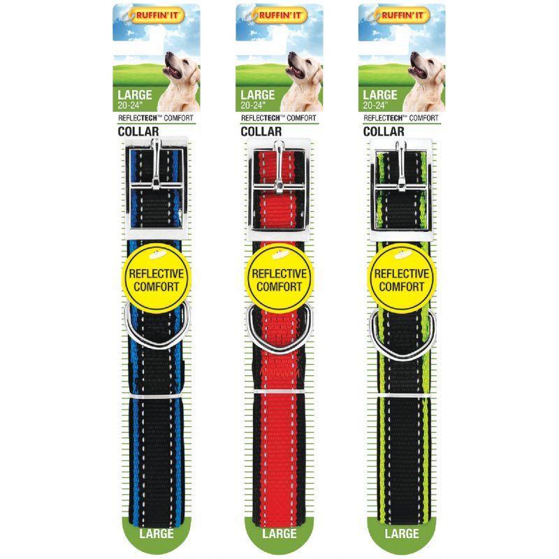 Westminster Pet Ruffin' it ReflecTech Dog Collar Green/Red/Blue