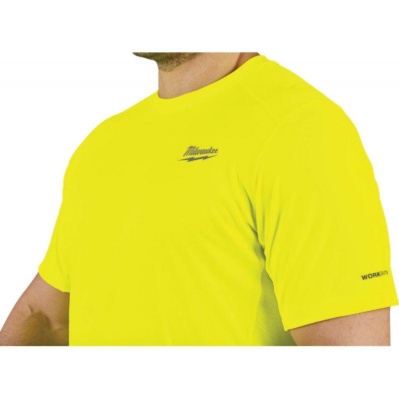 Milwaukee Workskin Lightweight Performance T-Shirt 2XL, High Visibility, Short Sleeve