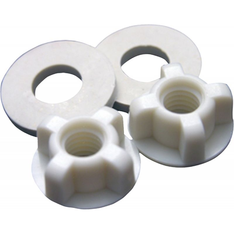 """Lasco Toilet Seat Hinge 3/8"""" Bolt Nuts And Washers 3/8"""", White"""