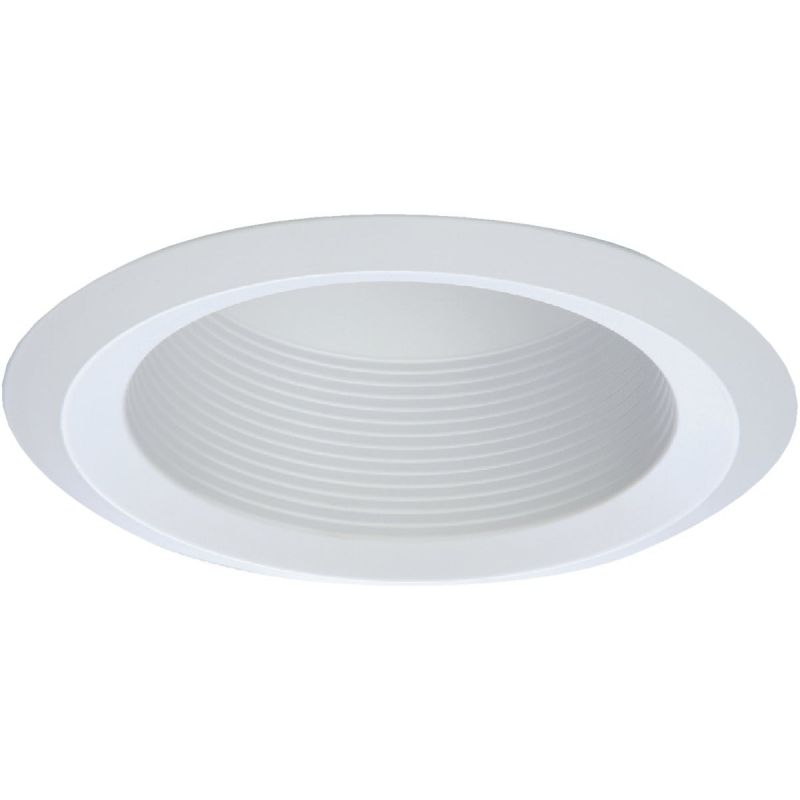 Halo 6 In. Cone Baffle Recessed Light Fixture Trim White (Pack of 6)