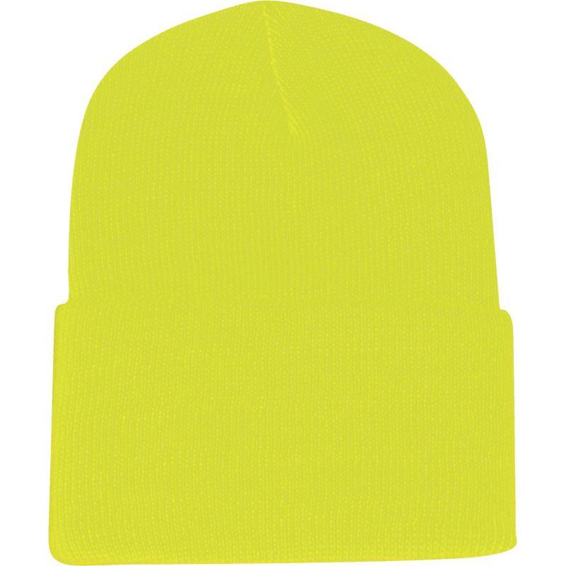 Outdoor Cap Cuffed Sock Cap Neon Yellow, Cuffed