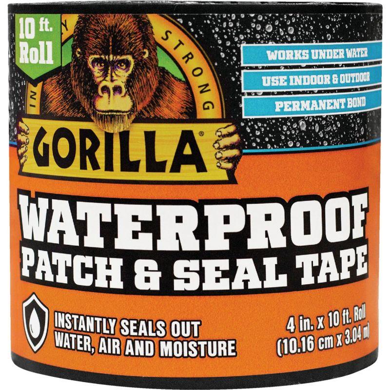 Gorilla Waterproof Patch & Seal Repair Tape 4 In. X 10 Ft., Black