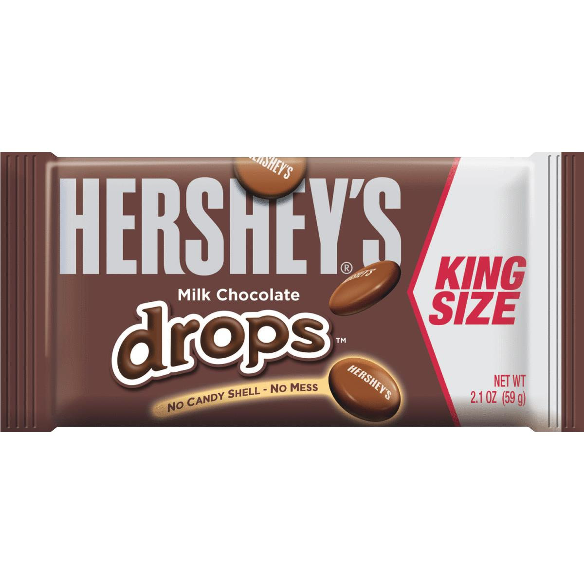 Buy Hershey's 2.1 Oz King Size Hershey Drops Chocolate Candy (Pack ...