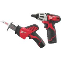 Milwaukee M12 Lithium-Ion Screwdriver and Recip Saw Cordless Tool Combo Kit
