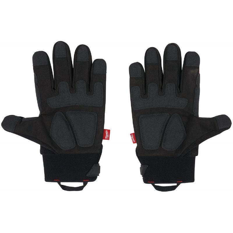 Milwaukee Demolition Winter Gloves L, Black/Red