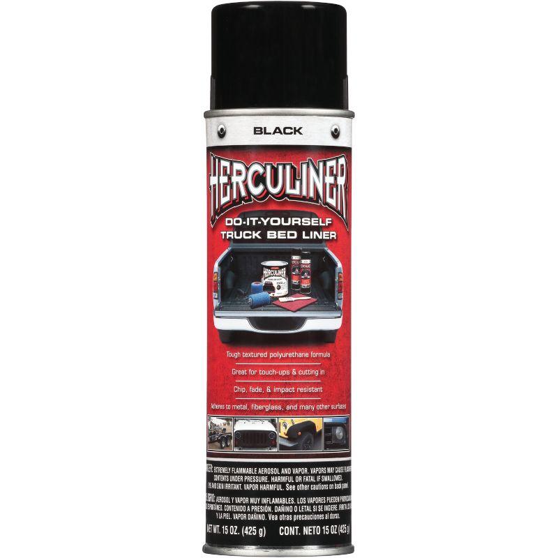 Herculiner Truck Bed Spray 15 Oz., Black