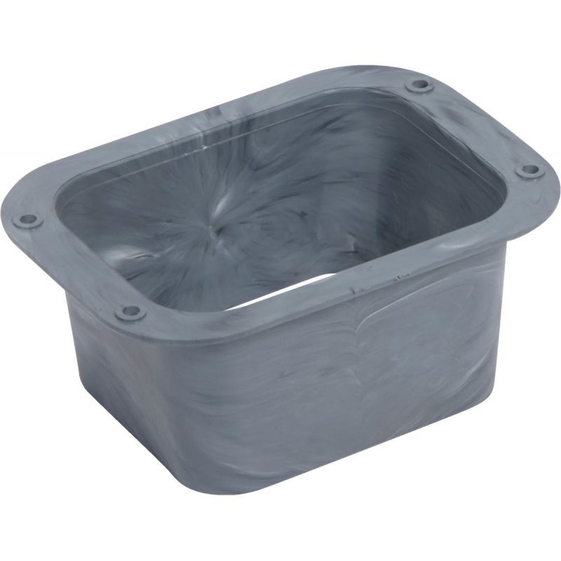 Universal C Plastic Outlet Gray