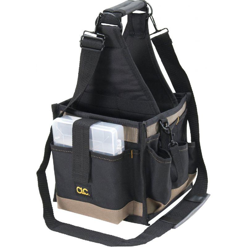 CLC 25-Pocket Electrical/Maintenance Tool Tote Black W/Tan