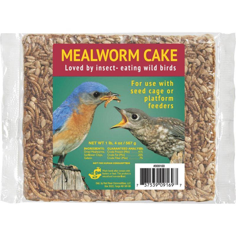 Mealworm Snack Wild Bird Seed Cake 20 Oz.