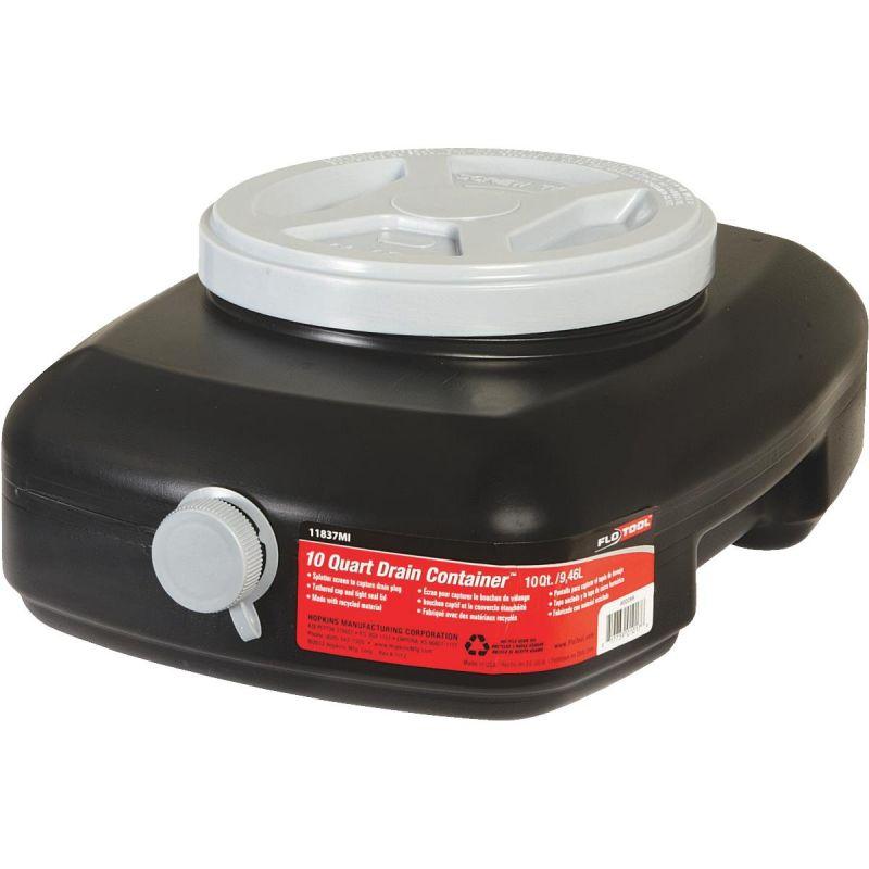 10 Quart Oil Drain Pan 10 Qt, Black