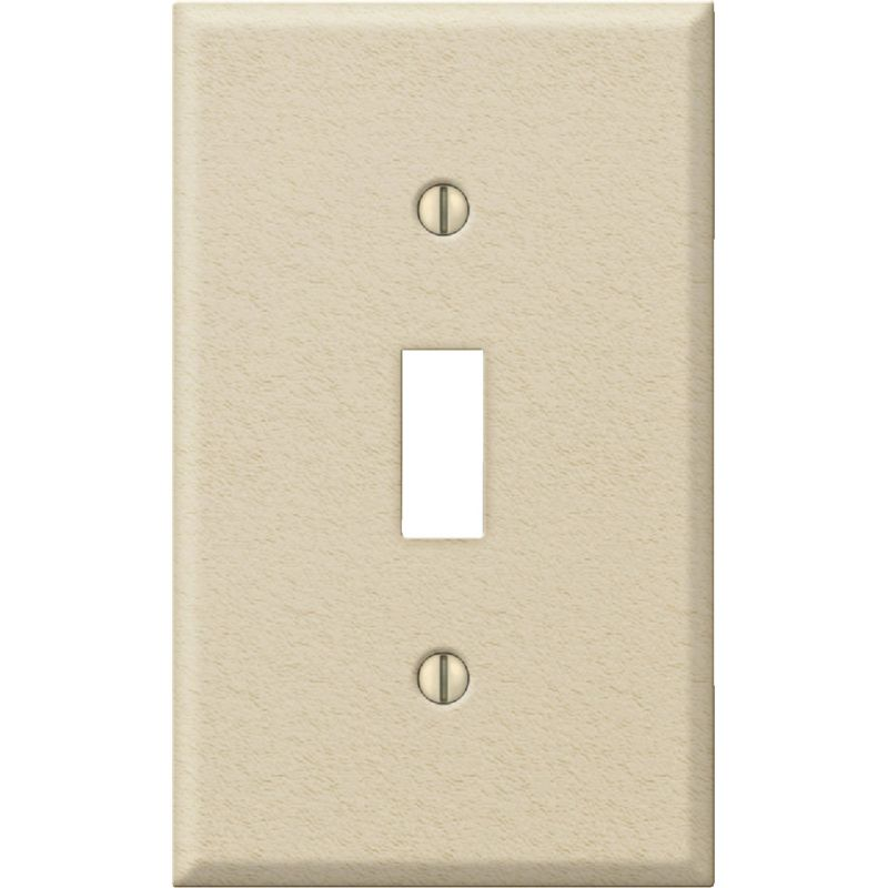 Amerelle PRO Stamped Steel Switch Wall Plate Ivory Wrinkle