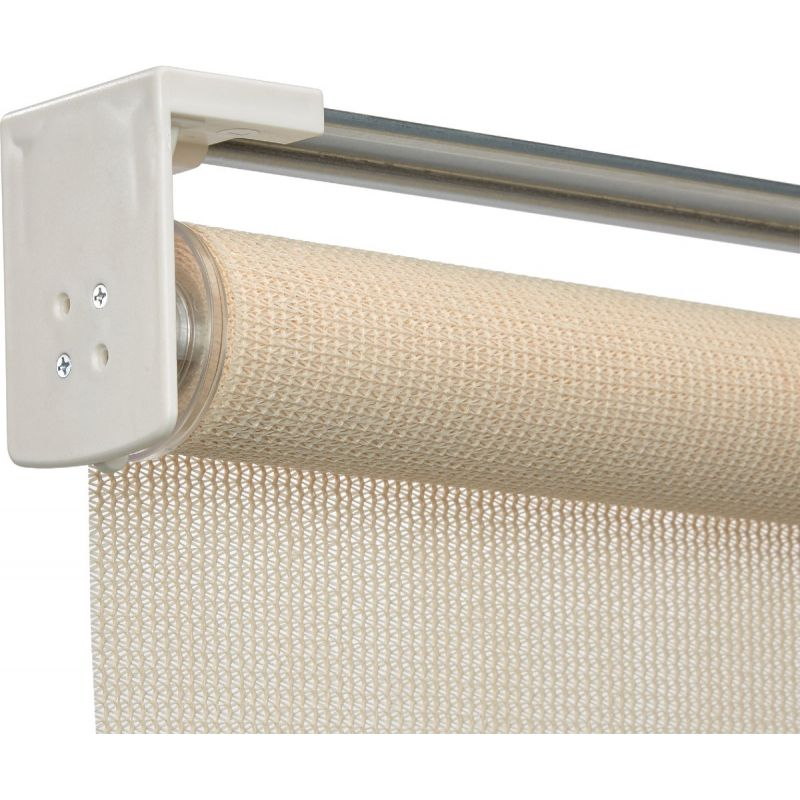 Home Impressions Fabric Indoor/Outdoor Cordless Roller Shade 72 In. X 72 In., Ivory