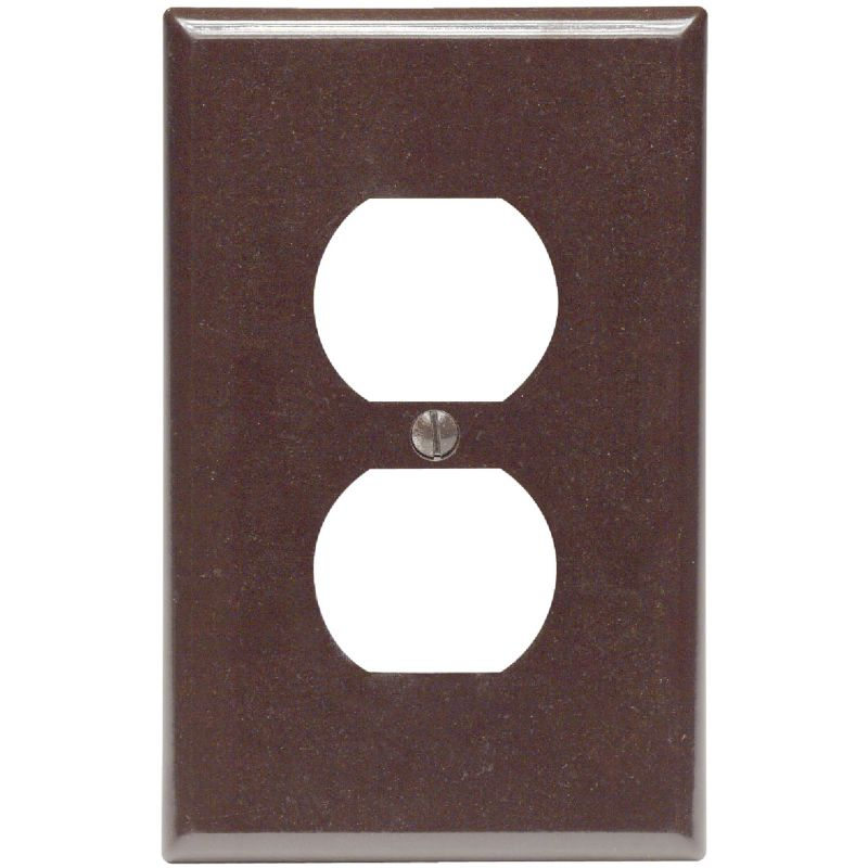 Leviton Mid-Way Outlet Wall Plate Brown