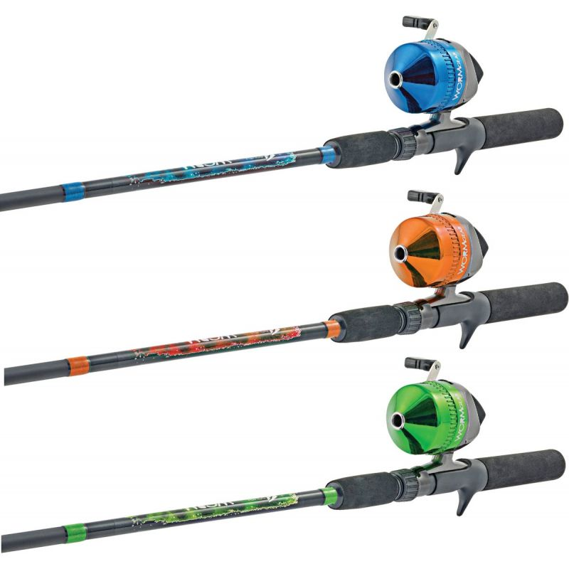 Worm Gear Fishing Rod & Spincast Reel