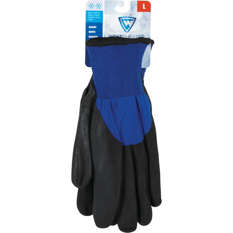 West Chester Nitrile Coated Winter Glove L, Blue & Black