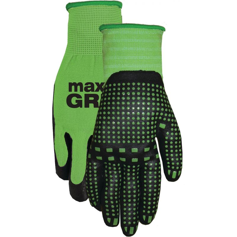 Midwest Quality Glove Max Grip Nitrile Coated Glove L, Green